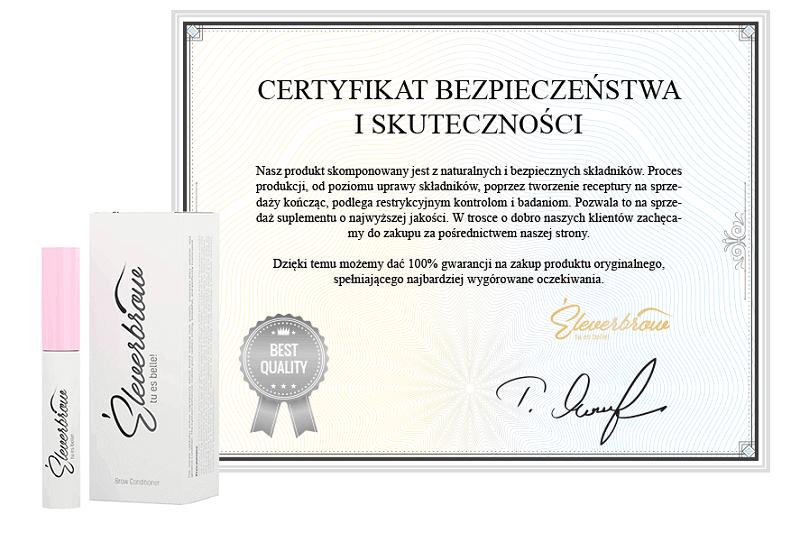 eleverbrow certyfikat
